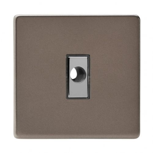 Varilight XDRFODS Screwless Pewter 1 Gang 16A Flex Outlet Plate